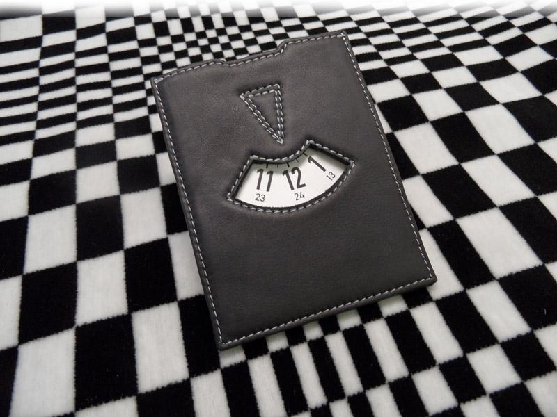 leather pouch for parking disc genuine leather for jaguar. Black Bedroom Furniture Sets. Home Design Ideas