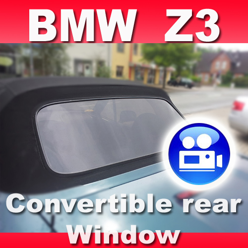 Bmw Z3 Convertible Top Rear Window Cabriolet Cabrio Black