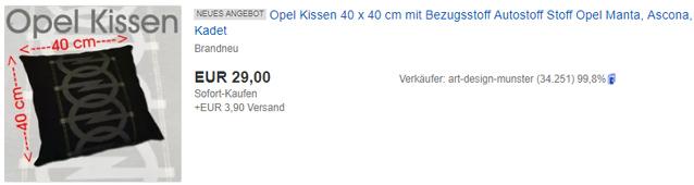 Sitzbezge & Kissen Bezugsstoff Autostoff Stoff Opel Manta I400 ...